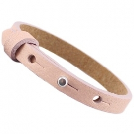 Cuoio Armband Leer Small Rose Smoke