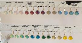 Swarovski oorhangers in diverse Opal kleuren