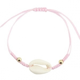 Armband met schelp Licht Roze