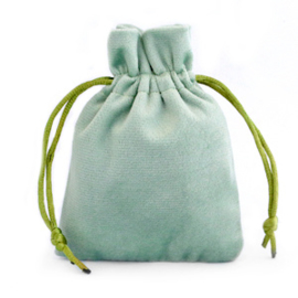 Sieraad cadeau zakje Velvet Green Ash