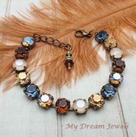 Armband Autumn Shimmer met Swarovski Crystal