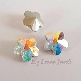 Swarovski 4744 Flower Crystal AB