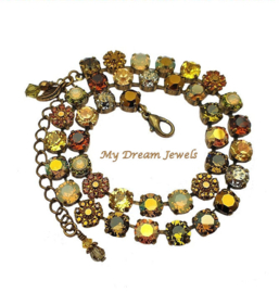Collier Swarovski Vintage Flower Golden Autumn