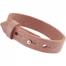 Cuoio Armband Leer Breed Cognac Brown