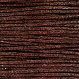 Waxkoord 1mm Chocolate Bruin prijs per meter