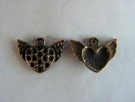 Bedel Bronskleurig Hart met vleugels voor Swarovski puntstenen PP14 (2,0mm)