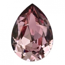 Swarovski 4320 druppel 14x10 mm Crystal Antique Pink