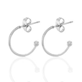 Roestvrij stalen (RVS) Stainless steel oorstekers creolen Zilver