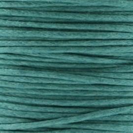 Waxkoord 1mm Donker Turmaline Groen prijs per meter