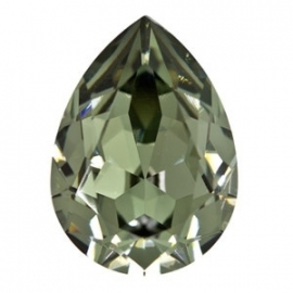 Swarovski 4320 druppel 14x10 mm Black Diamond