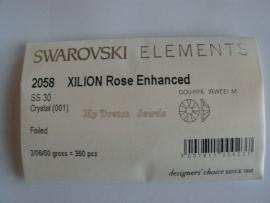 Swarovski 2058 platte stenen Crystal 6,2mm