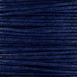 Waxkoord 1mm Midnight Blue prijs per meter
