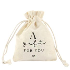 """Sieraad cadeau zakje """"A gift for you"""""""