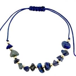 Armband met chipstone Donker Blauw