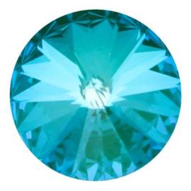 Swarovski 1122 Rivoli Crystal Laguna Delite 12mm/2st