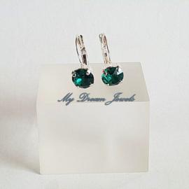 Swarovski Oorbellen Mei ( Emerald )