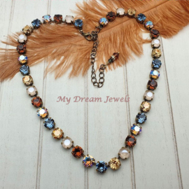 Collier Autumn Shimmer met Swarovski Crystal