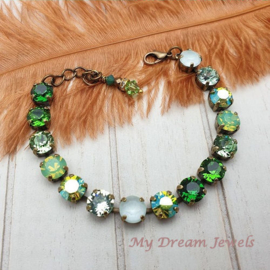 Armband  Forest Green met Swarovski Crystal