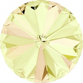 Swarovski 1122 Rivoli Crystal Luminous Green 10mm