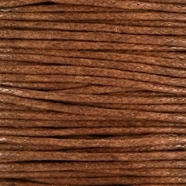 Waxkoord 1mm Bruin prijs per meter