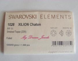 Swarovski 1028 Smoked Topaz  1,7mm Volle verpakking
