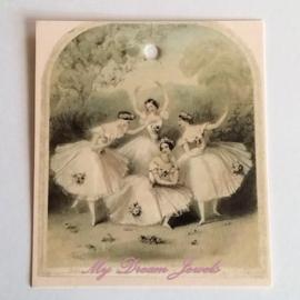 Romantisch Vintage Look Label Ballet Meisjes per 3 stuks