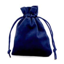 Sieraad cadeau zakje Velvet Dark Blue