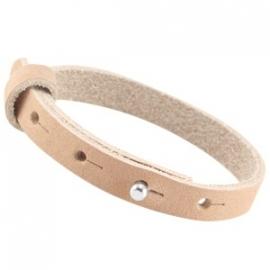 LC Armband Enkel Nubuck Leer 10mm Sandstone Brown