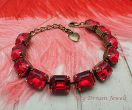 Armband Lady in Red met Preciosa Crystal