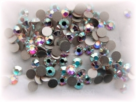 Swarovski 2028 platte steen Crystal AB 4,6mm per 12 stuks