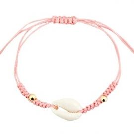 Armband met schelp Rose Peach