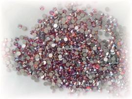 Swarovski 2028 platte steen Hyacinth AB 2,6mm per 12 stuks