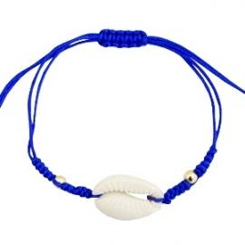 Armband met schelp Cobalt