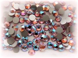 Swarovski 2028 platte steen Light Rose AB 7,1mm