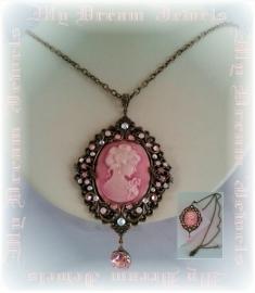 Vintage Style Ketting Pink Lady