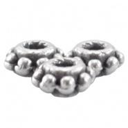 DQ Tube/Kraal Antiek Zilver