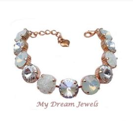 Armband White Crystal Sparkle met o.a. Swarovski Crystal