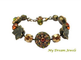 Armband Swarovski Bronze Leaves