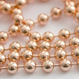 DQ Ball Chain Rose Gold Plated 3mm