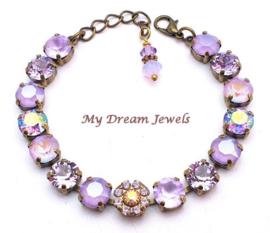 Armband Swarovski Vintage Flower Violet