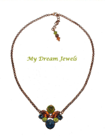 Ketting Swarovski  Copper Autumn