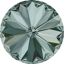 Swarovski 1122 Rivoli Black Diamond 12mm