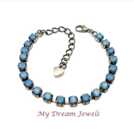 Armband met Swarovski Crystal White Opal Star Shine
