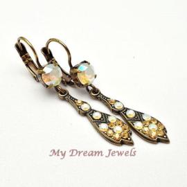 Oorhangers Vintage Glamour met Swarovski Crystal