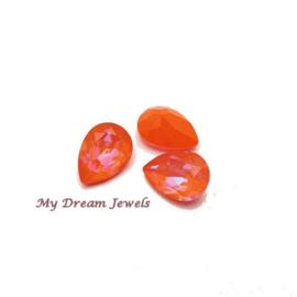 Swarovski 4320 druppel Crystal Orange Glow Delite 14x10mm