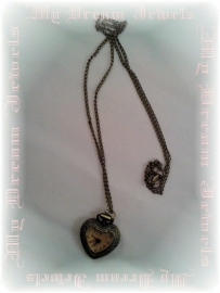 Ketting Pocket Watch Smokey Heart