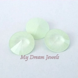 Swarovski 1122 Rivoli Crystal Powder Green 12mm