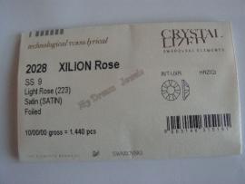 Swarovski 2028 platte stenen Light Rose Satin 2,6mm Volle Verpakking