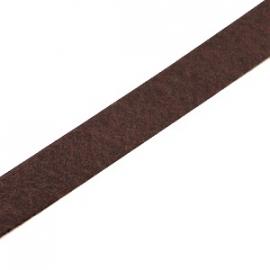 DQ Leer Plat 10mm kleur Dark Brown  Prijs per 15cm