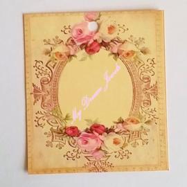 Romantisch Vintage Look Label Barok Bloemen per 3 stuks